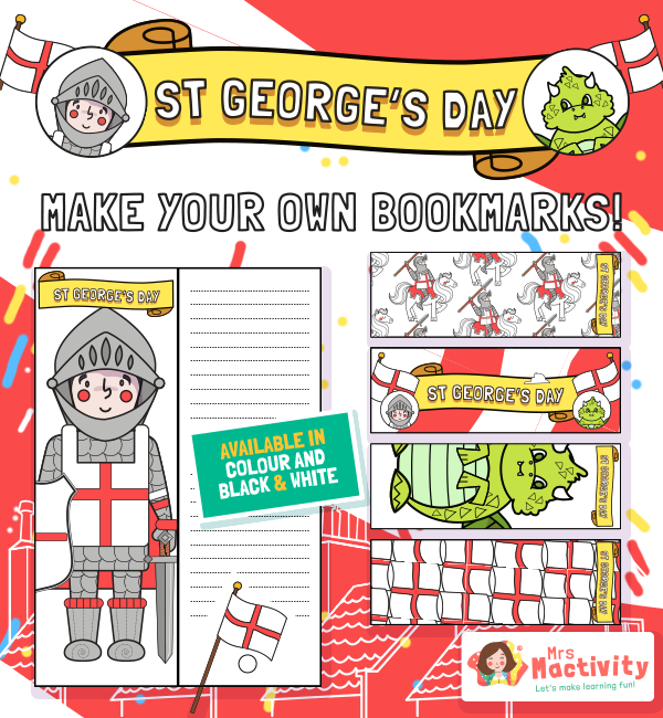 st georges day Bookmarks