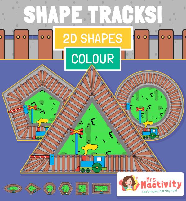 Shape Tracks Train 2D COLOUR
