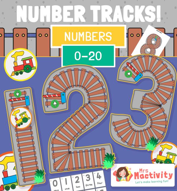 Maths Number tracks Trains COLOUR 2021