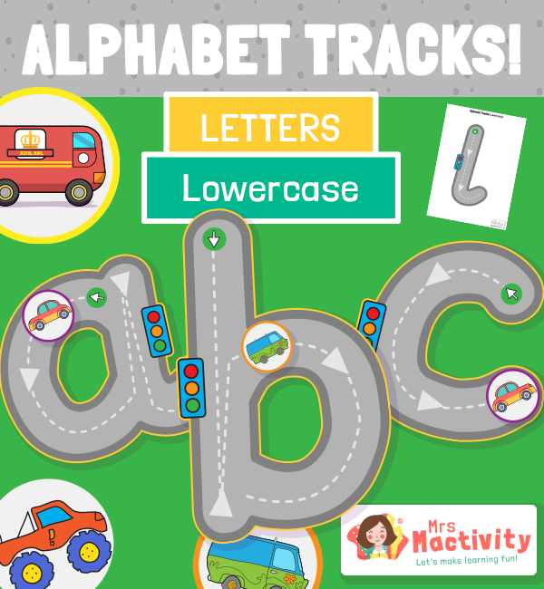 Lower Case Alphabet Road Tracing Activity