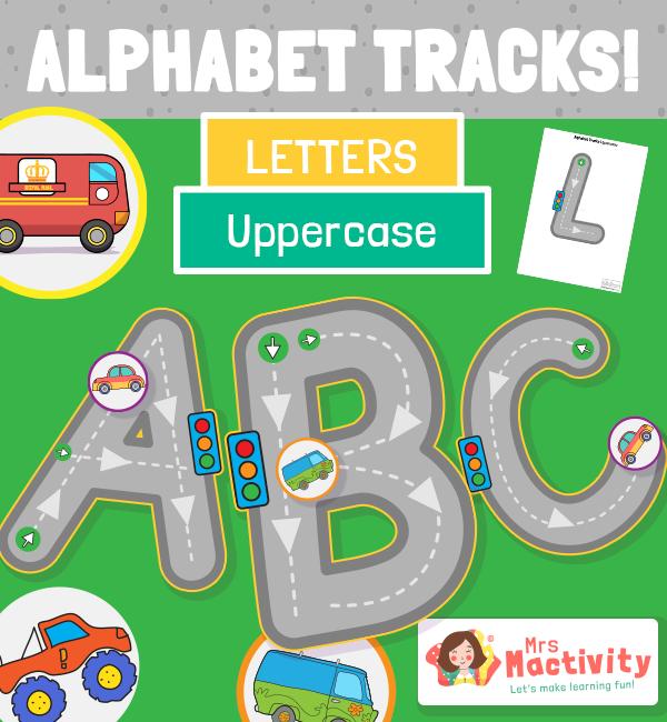 Upper Case Alphabet Road Tracing Activity