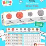 Maths Money Coin Strips 2