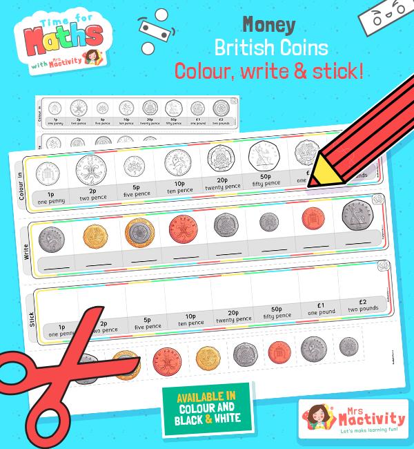 British coin matching activity