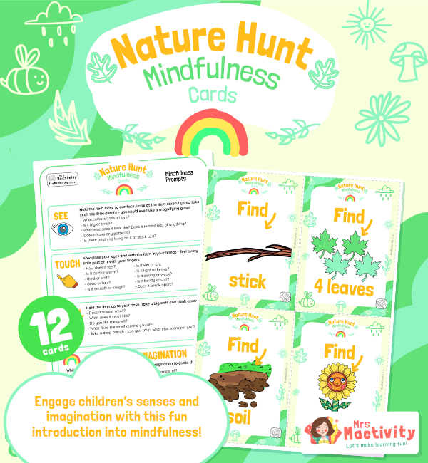 wellbeing Mindfulness Nature Hunt Cards 3
