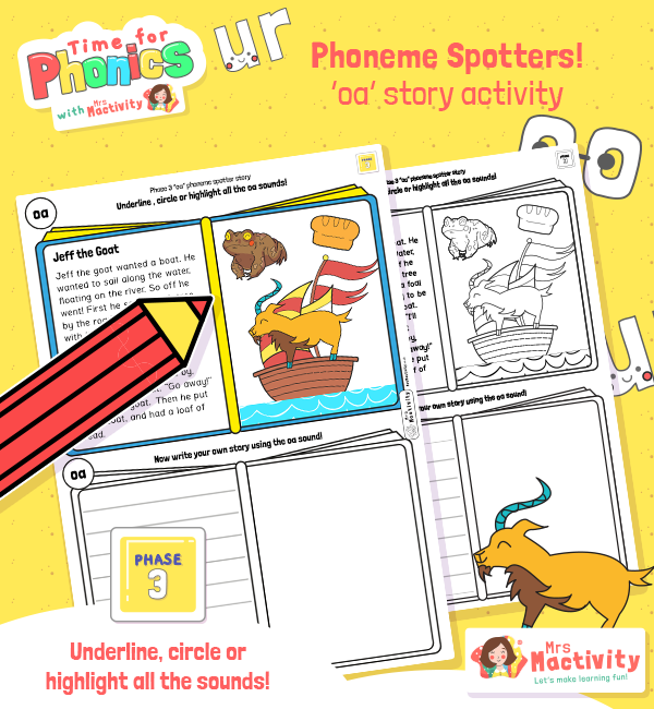 """oa"" Phoneme Spotter Story"