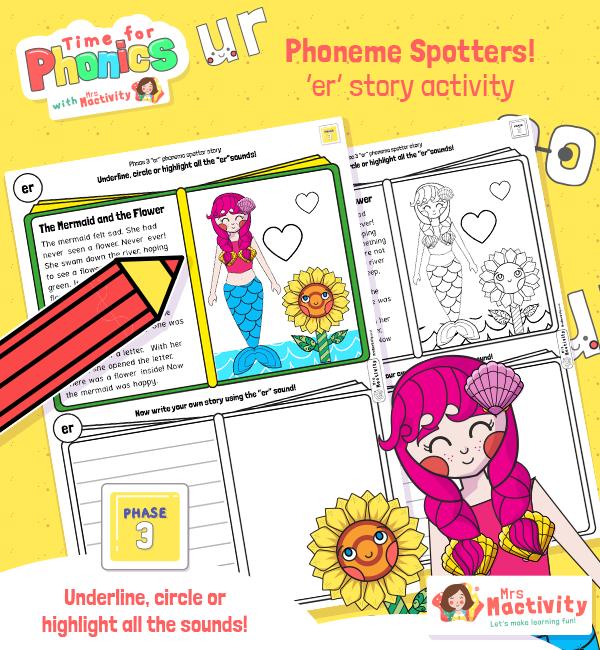 Phonics Phase 3 Phoneme Spotters ER Story