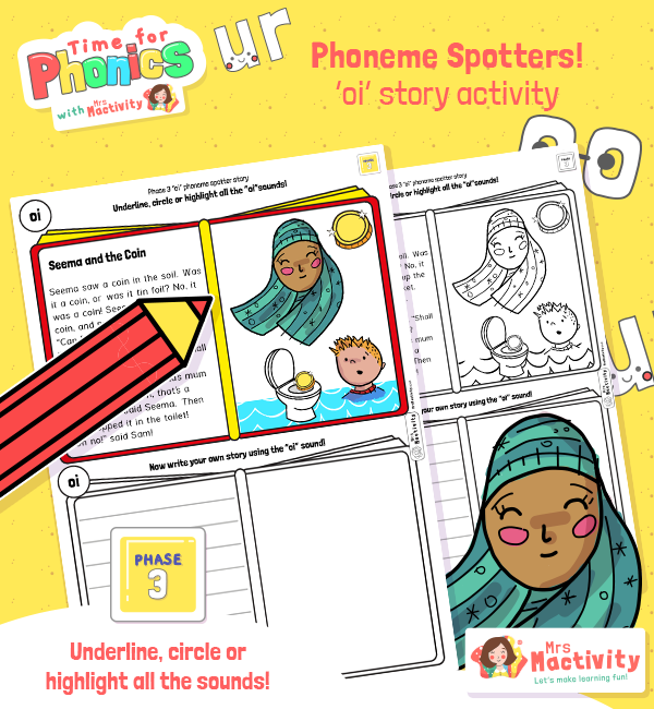 """""""oi"""" Phoneme Spotter Story"""