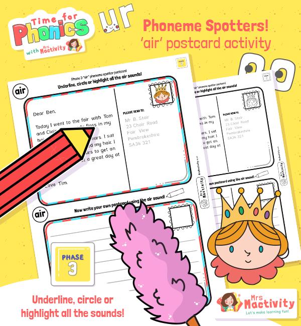 """air"" Phoneme Spotter Postcard"