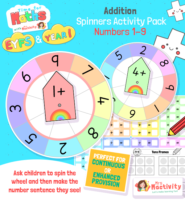 Number Sentence Addition Activity Pack