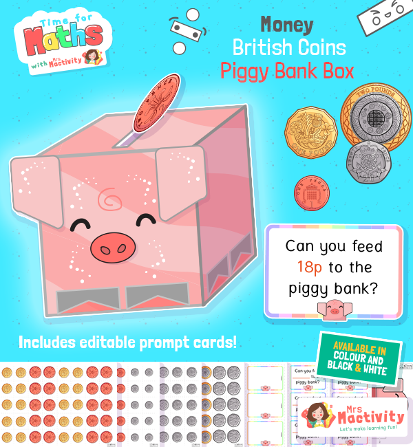 Add the Money to the Piggy Bank Activity