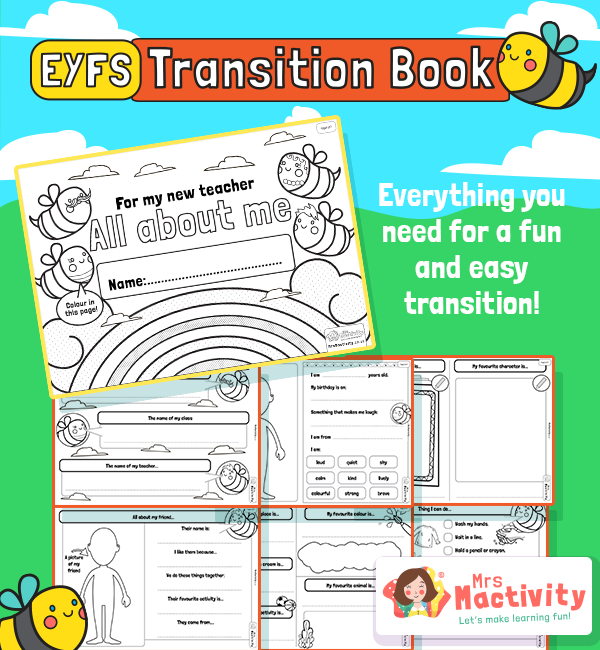 Help children who are moving into Reception transition with ease using ourStarting School Transition Booklet.