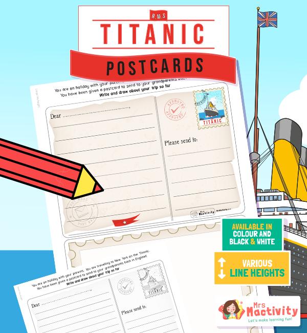 The titanic postcard writing activity