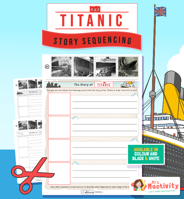 The Titanic story sequencing activity