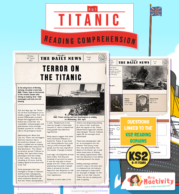 The Titanic Newspaper Report Reading Comprehension