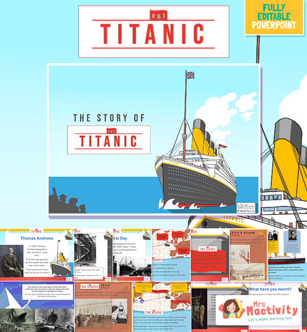 The Story of the Titanic Lesson Presentation
