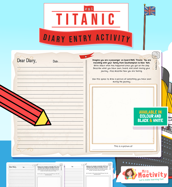 The Titanic Diary Entry Writing Activity