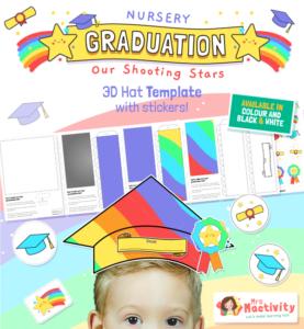 Nursery Graduation Hat Template