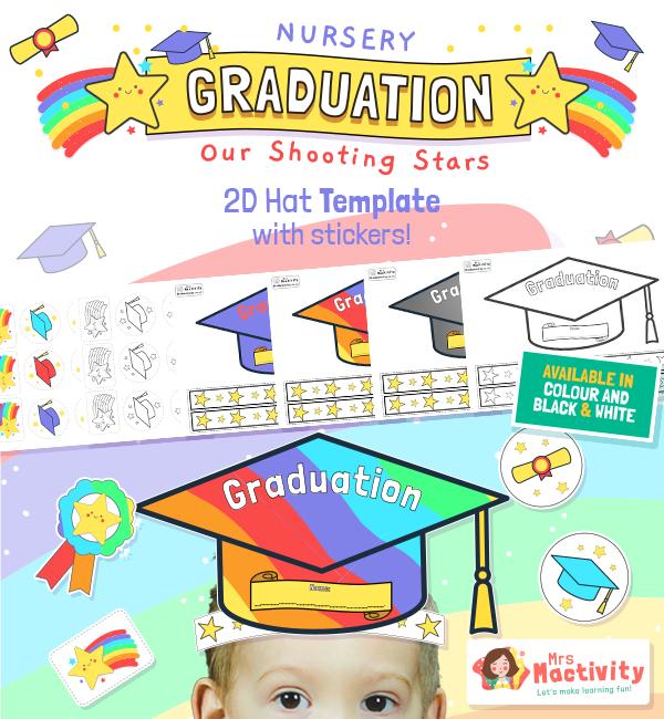 Graduation Hat template 2D