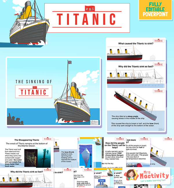 The Sinking of the Titanic Information Lesson Presentation
