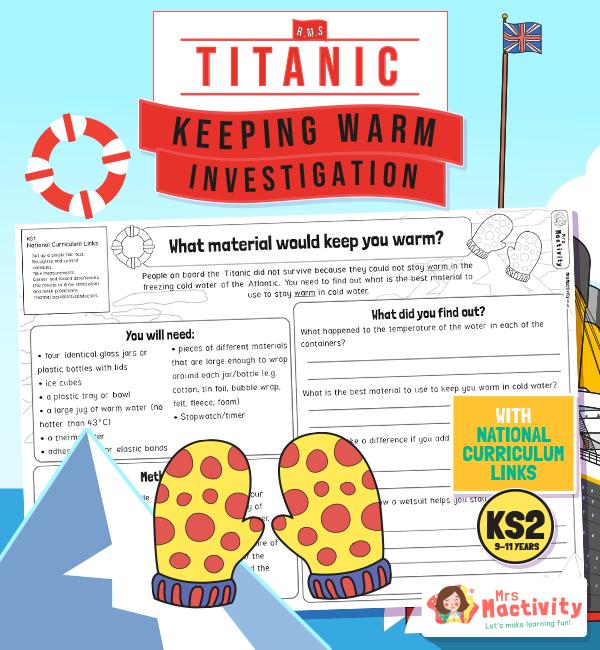 Titanic Keeping Warm Investigation KS2 2