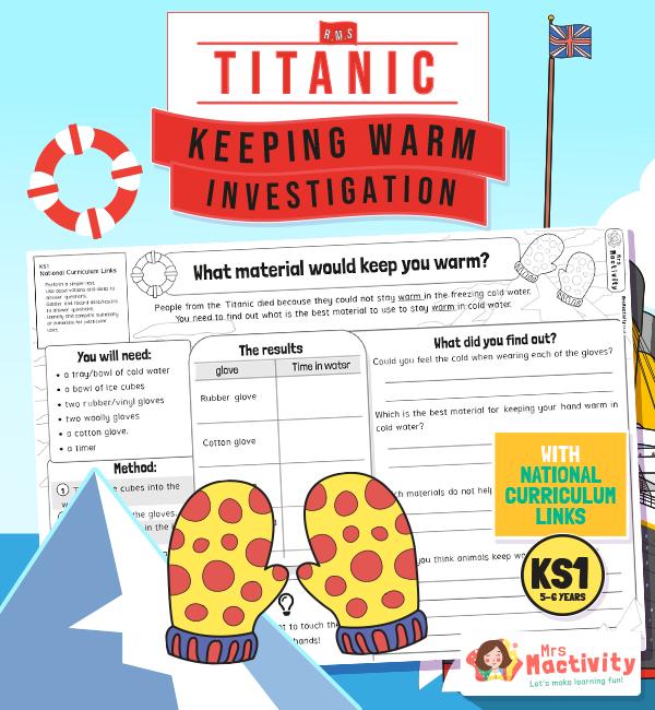Titanic Keeping Warm Investigation KS1