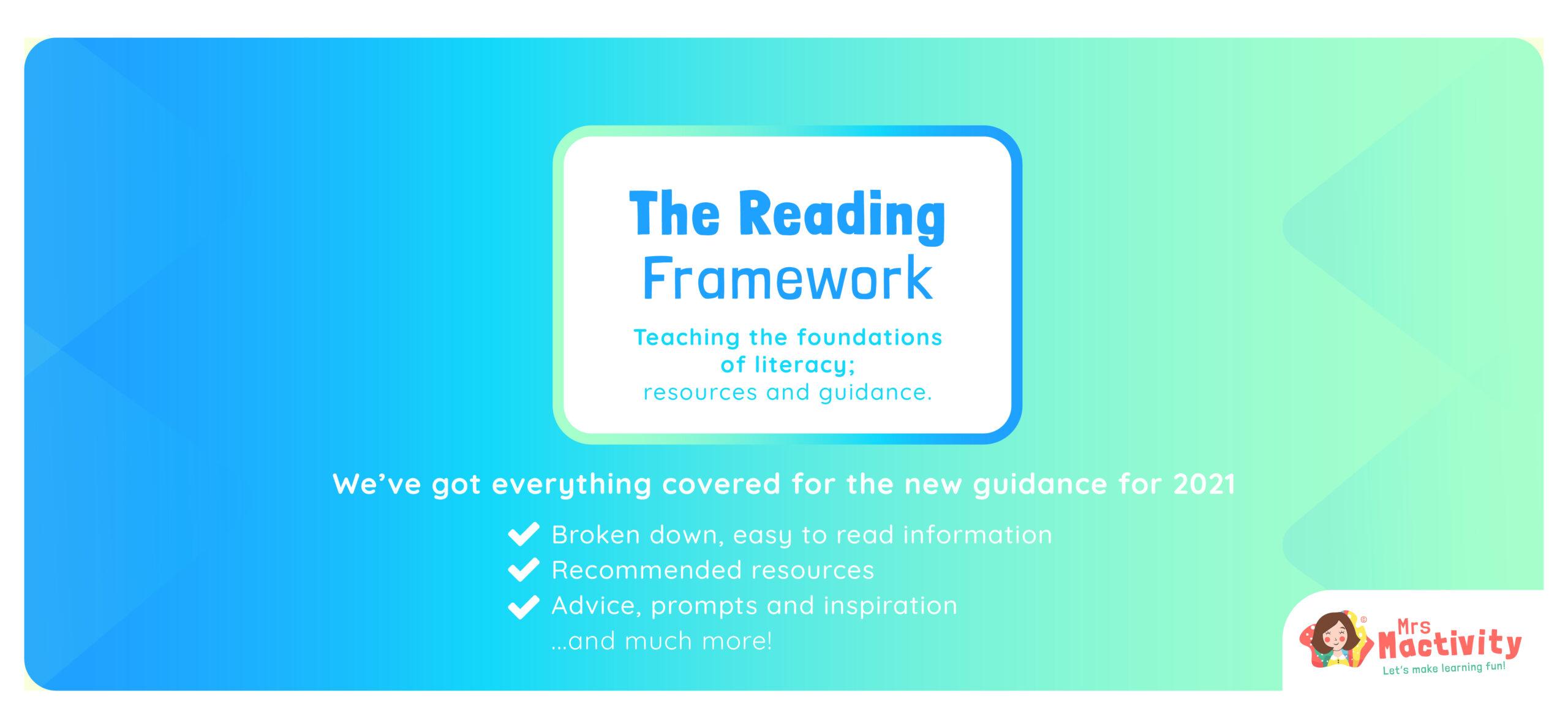 2021 reading framework guidance