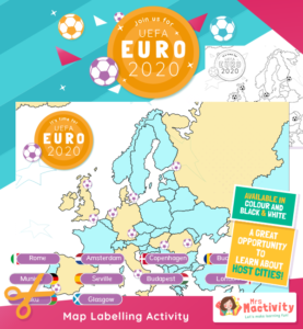 Euro 2020 Host Cities Map Labelling Activity