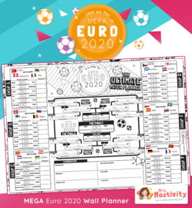 Euro 2020 Wall Planner