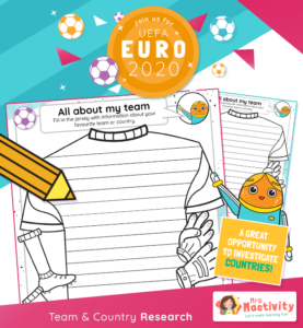 Euro 2020 Team and Country Research Activity