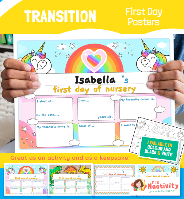 Help children settle into their first day of nursery with ourFirst Day of Nursery Photo Posters.Use these posters as fun photo props so that parents can remember this exciting day in children's lives.