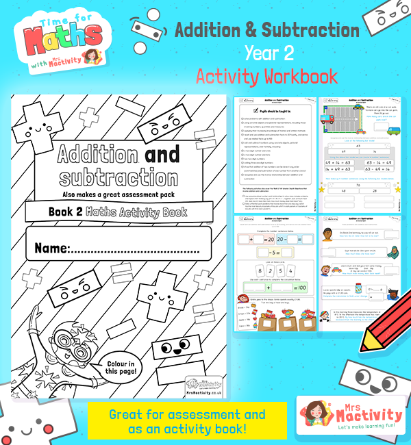 Year 2 addition and subtraction maths assessment