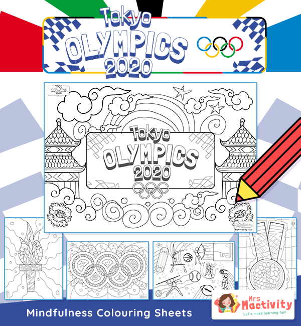 Olympics 2020 Mindfulness Colouring