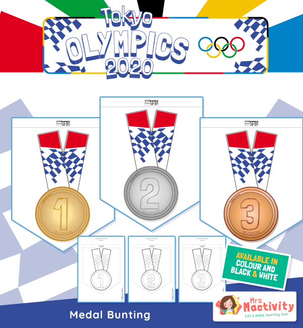 Olympics Medal Display Bunting