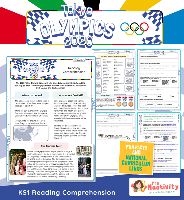 Olympics 2020 Reading Comprehension KS1