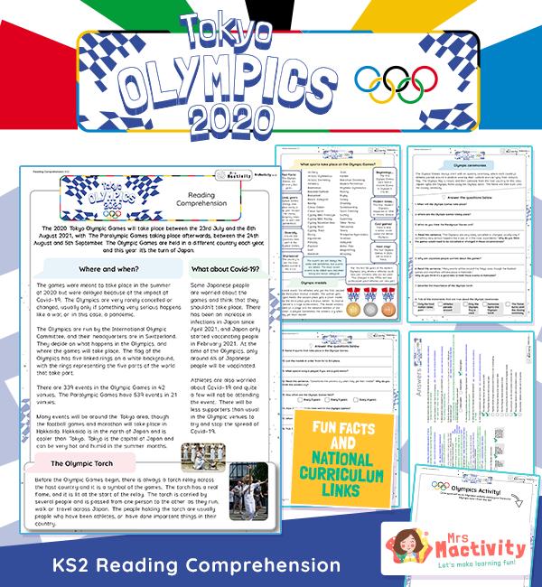 Olympics 2020 Reading Comprehension KS2 2