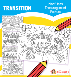 transition mindfulness colouring pages