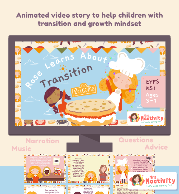 Rose Learns about Transition Animated Video with Narration