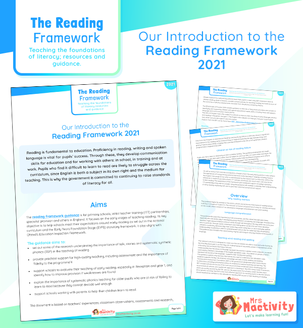 2021 reading framework information