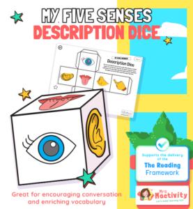 My Five Senses Description Dice