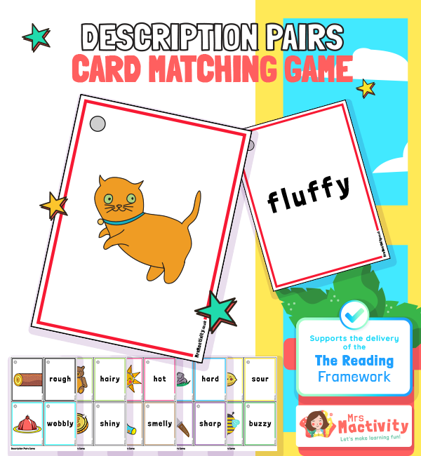 Description Pairs Game to Support the Delivery of the 2021 Reading Framework