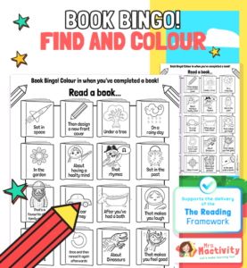 Book Bingo Activity to Support the Delivery of the 2021 Reading Framework