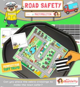 Road Safety Tuff Tray Activity