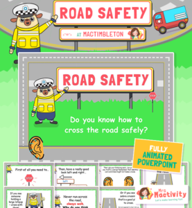 Road Safety Animated Information PowerPoint