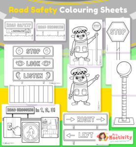 Road Safety Colouring Sheets