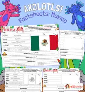 Axolotl Mexico Factsheet for Kids
