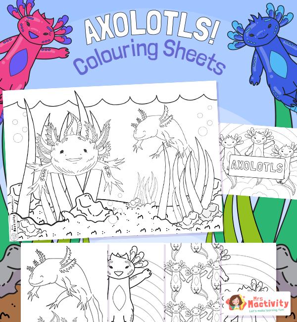 Axolotls Colouring Sheets 001