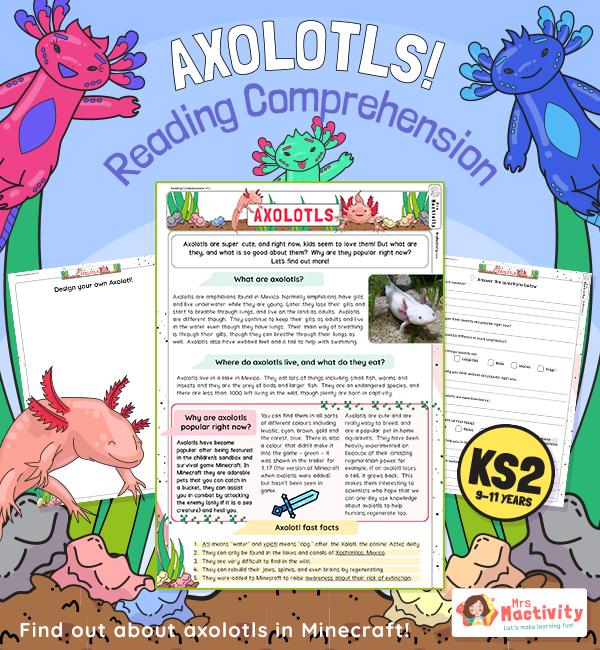Axolotl Reading Comprehension