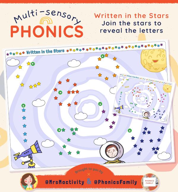 Written in the Stars Activity - Phonics Family Range