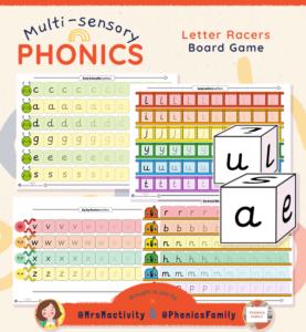 Letter Formation Race - Phonics Family Range