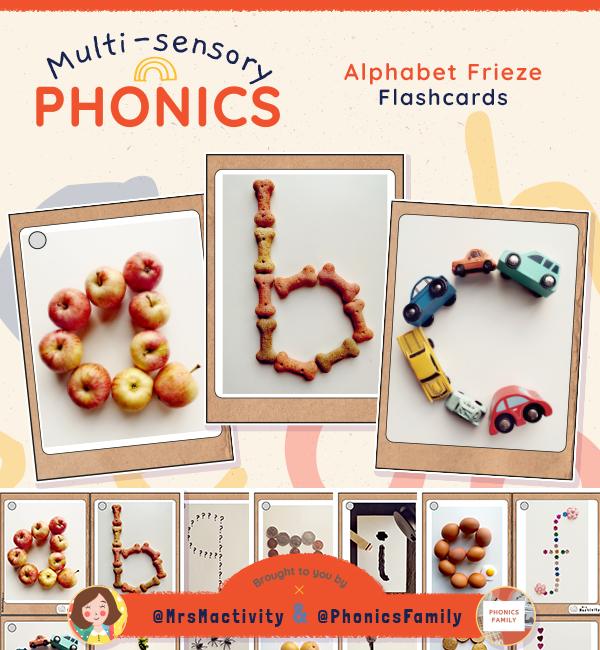 Alphabet Frieze Flashcards - Phonics Family Range